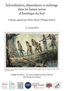 Colloque subordination_dependance_esclavage_basses_terres_2015